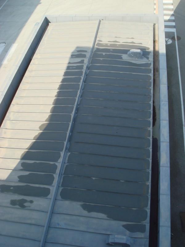 ligne de vie sur toit terrasse en bac acier soci t proven ale d 39 echafaudages. Black Bedroom Furniture Sets. Home Design Ideas
